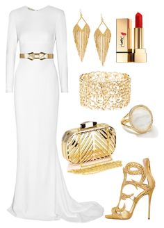 """Perfect Queen Gold & White Dress 2015"" by diamondanna ❤ liked on Polyvore featuring STELLA McCARTNEY, Marni, Giuseppe Zanotti, Yves Saint Laurent, Ippolita, Panacea, Chicnova Fashion and Charlotte Russe"