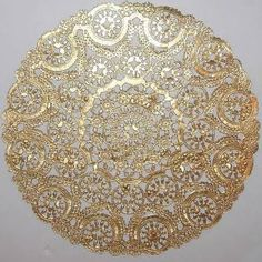 """""""Charger Plate"""" gold doilies 12 inch - Google Search"""