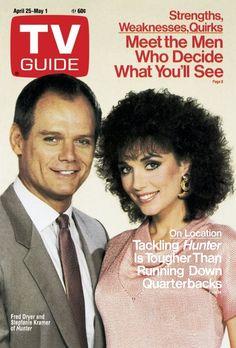 TV Guide_April 25..'Hunter'...Fred Dryer & Stepfanie Kramer