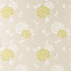 Isodore Olive Floral Wallpaper