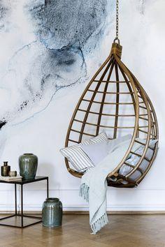 Bamboo hanging chair by Broste Copenhagen
