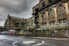 Abandoned building in Townmead Road (hdr) by sixthland, via Flickr
