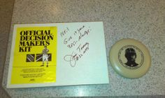 RARE ITEM....1967  LOMBARDI GREEN BAY WI,ICE BOWL OFFICIAL AUTOGRAPH JIM TUNNEY