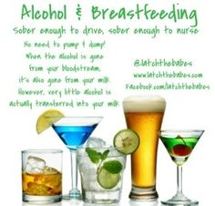 Alcohol & breastfeeding. Bottoms up! Gettin' Your Drink on While Breastfeeding