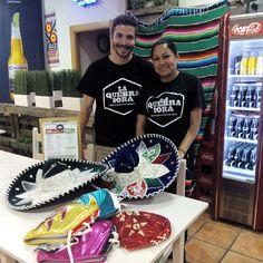 Diego Marcos y Anette Merino del restaurante taqueria La Quebradora (calle Princesa 3)