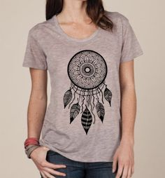 c18ac24468e Womens DREAMCATCHER BOHO Bohemian Slouchy T shirt screen print Top  Alternative Apparel S M L XL More colors