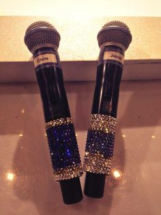 Every part of the Dancing on Ice Tour is sparkly, even the microphones