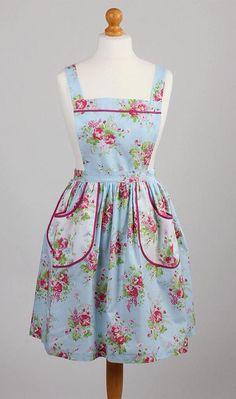 Vintage style Apron/1940's Style Apron/ Floral Apron