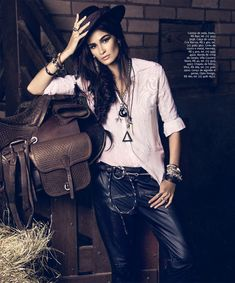 CarolineInStyle2 Caroline Ribeiro Hits the Trails for InStyle Brazil April 2013 by Yossi Michaeli