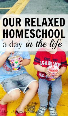 Want to know what relaxed homeschooling looks like? See our homeschool lifestyle in this day in the life in relaxed homeschool with four kids 7 and under.