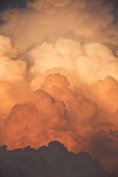 Value. Nature. There is value in the clouds going from black to orange to cream.