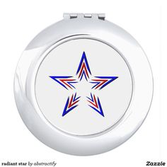 red and blue star compact mirror Star Makeup, Compact Mirror, Makeup Tools, Mirrors, Red And Blue, Vanity, Stars, Green, Dressing Tables