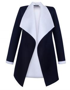 Płaszcz Neoprenowy czarno-biały