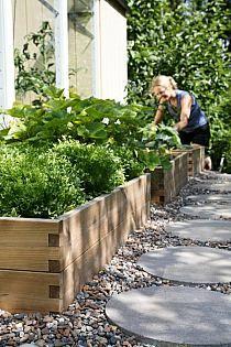 Garden design with gravel and stones - 25 garden ideas for you - pebble frame wood footpath garden slabs concrete round Informations About Gartengestaltung mit Kies -