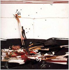 Manolo Millares. El Muro (1969. Arpillera. 160 x 160 cm. Colección pri