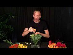 Modern Grass Fan Floral Arrangement - YouTube