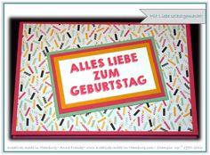 """Geburtstagskarte - Birthday card - Wassermelone - Curry-Gelb - Minzmakrone - Party-Grüße - Designerpapier im Block """"Meine Party"""" - Stampin' Up! - Kreatives made in Hamburg"""