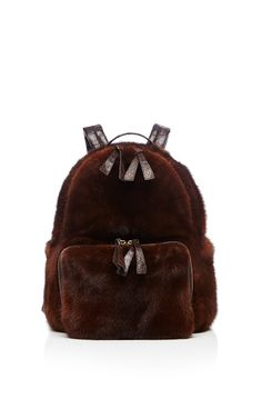 0a20d99bd4d4a Chocolate Brown Mink Backpack by Nancy Gonzalez for Preorder on Moda  Operandi Brown Backpacks