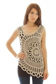 #Inspiration: Crochet top Crochet Jacket #2dayslook #CrochetfashionJacket www.2dayslook.com