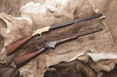 Henry  Spencer - In the age of the single-shot muzzleloader, the breechloading repeating rifle was king. While the .56/56 caliber Spencer could hold seven cartridges in its tubular buttstock magazine, the Henry's 16 .44 ca cartridges all fit nicely under its barrel. Which was the better gun? If you went by government orders, Spencer had the lead. But postwar, the Henry evolved into the Winchester, the gun that won the West. NRA National Sporting Arms Museum at Bass Pro Shops in Springfield…