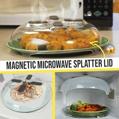 Give your microwave an upgrade! 🤩 ✅This Magnetic Microwave Splatter Lid secures to the roof of your microwave and is always ready for use, whenever you ne. Cool Kitchen Gadgets, Kitchen Hacks, Cool Kitchens, House Cleaning Tips, Cleaning Hacks, Kitchen Dining, Kitchen Decor, Fruit And Vegetable Storage, Cooking Gadgets