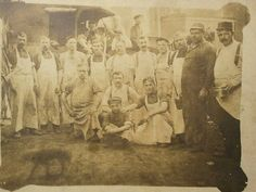Stockyard butchers, 1895.