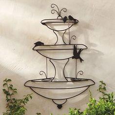 """$89 Birds in a Fountain Wall Art 28""""W x 42""""H, 7 lbs."""