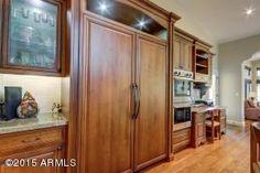 1250 E CAROLINE Lane, Tempe, AZ, 85284   Gorgeous doors to hide fridge #AZ #realestate #AZliving