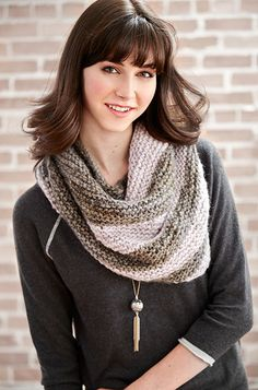 Can't wait to try this #pattern! Patons Misty Triangle Shawl #knit #acmoore