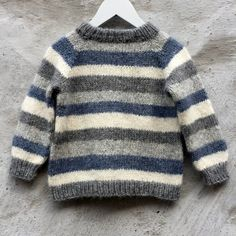 Brother / Brormand Sweater pattern by PixenDk - mediumhair. Brother / Brormand Sweater pattern by PixenDk – mediumhaircut Boys Knitting Patterns Free, Baby Sweater Patterns, Baby Cardigan Knitting Pattern, Knit Baby Sweaters, Knitting For Kids, Knitted Baby Clothes, Knitting Sweaters, Boys Sweaters, Knitting Ideas