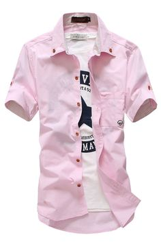 38c1dab7306 Men s Casual Short Sleeve Dress Shirt