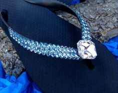 b0b7493a04027f Silver Starfish Crystal Flip Flops Mint Green SeaFoam Turquoise Blue Aqua  Havaianas flat or Wedge Heel w  Swarovski Wedding Slip on Shoes