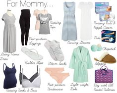 Full list of what to pack for the hospital for Mommy and baby!