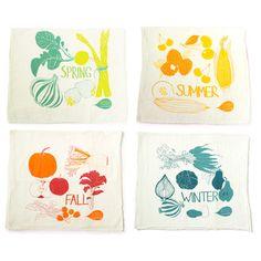 Four Seasons Tea Towel Set, $42, now featured on Fab.