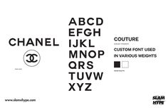 Saved by Catta Design (catta). Discover more of the best Chanel, Typography, and Font inspiration on Designspiration Fashion Typography, Typography Fonts, Fashion Branding, Lettering, Fashion Fonts, Brand Identity Design, Branding Design, Logo Branding, 3d Logo
