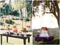 bandejas suspensas decoração casamento - Pesquisa Google