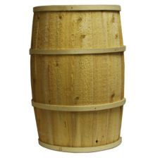 """Bradbury Barrel 20"""" x 30"""" Rustic Wooden Barrel... pretty cheap, plus I get to stain it any color I want :]"""