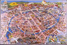 Strasbourg-plan-de-Strasbourg-Bas-Rhin-Alsace-France-Europe.
