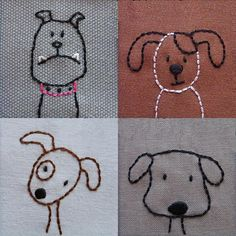 Looking for your next project? You're going to love Dogs embroidery pattern PDF by designer Wendi Gratz.