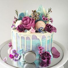 Macaron Cake, Birthday Cake, Cake, Ice Cream Birthday Cake, Pastel Birthday … – Famous Last Words Girly Birthday Cakes, Ice Cream Birthday Cake, Beautiful Birthday Cakes, Birthday Cakes For Women, Beautiful Cakes, Amazing Cakes, 30th Birthday Cakes, Birthday Cake Awesome, 21 Bday Cake