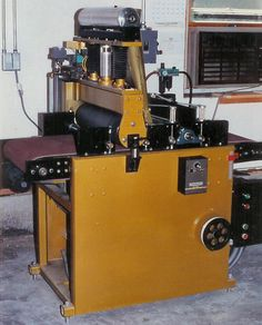 This is a wide belt sander and planer I built in 1995. Barry Golash
