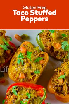 Absolutely delicious the Taco Stuffed Peppers is one of the best homemade beef recipes out here! The healthy Chopmeat Recipes Dinners. Gluten Free Tacos, Beef Recipes, Cooking Recipes, Taco Stuffed Peppers, Taco Fillings, Proper Diet, Delicious Dinner Recipes, How To Cook Quinoa, Base Foods