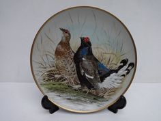 Franklin Mint Gamebirds of the World By Basil Ede - een set van 12 porseleinen borden.