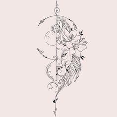 Hip Tattoos Women, Back Tattoo Women, Tattoo Finder, Mandala Hip Tattoo, Black Rose Tattoos, Tattoo Signs, Desenho Tattoo, Cat Tattoo, Future Tattoos