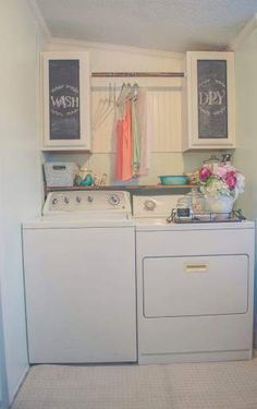 Beautiful Manufactured Home Decorating Ideas - Laundry Room .