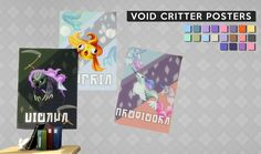 Sims4MM — gohliad:   VOID CRITTER POSTERS / / 20 TS4 Posters...
