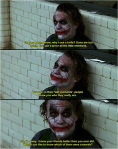 The Joker. Heath Ledger.