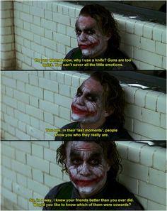 The Joker. Heath Ledger.