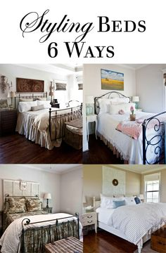 6 Ways to Style a Bed good inspiration for when taking photos of your vacation rental.
