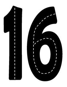 Printable Road Numbers